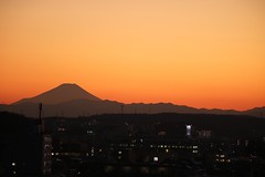 Sillouette Mtfuji Orange Sky (reno220) Tags: orangesky sillouette mtfuji
