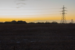 Dusk (danjama) Tags: trees light sunset london nature monochrome silhouette canon reeds landscape pond low sigma essex 18200 hdr upminster 60d