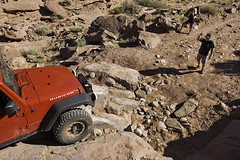 Just Fall Off (W9JIM) Tags: red jeep w9jim cliffhanger wrangler rubicon 1740l 17mm spotter