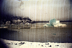 30-111 (ndpa / s. lundeen, archivist) Tags: winter lake snow color fall film ice water 30 alaska 35mm nick spots iceberg 1970s portage portagelake damaged 1972 distressed alaskan dewolf discolored heatdamage damagednegative nickdewolf photographbynickdewolf reel30