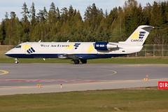 West Air Sweden SE-DUX, OSL ENGM Gardermoen (Inger Bjørndal Foss) Tags: norway crash accident regional osl gardermoen canadair engm cl600 westairsweden sedux