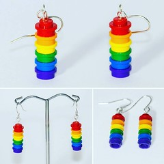 LEGO Rainbow earrings! For sale if you like them http://ift.tt/23VMCxS #lego #etsy #jewellery #earrings #rainbow #afol #bricknetwork #photos #photography #camera #legophoto #toyphoto #minifig #minifigures #photo #toy #brickphoto #brick #piece #micro #mini (Bricktease) Tags: film upload movie poster toy photography star photo lego photos lotr wars marvel afol instagram bricktease
