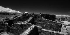 ChacoCultureHistoricPark1997-309 (sara97) Tags: blackandwhite bw newmexico analog blackwhite 1997 analogphotography nikonf3 kodakhie infraredfilm photobysaraannefinke chacoculturhistoricpark kodakhighspeedinfraredfimm
