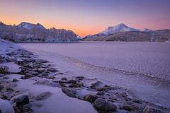 Cold winter morning (Reidar Trekkvold) Tags: winter snow cold ice nature norway sunrise landscape is vinter outdoor natur nordnorge sn harstad troms fujifilmxt10 storvannsyd