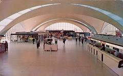 Interior View, St. Louis Municipal Airport (SwellMap) Tags: architecture plane vintage advertising design pc airport 60s fifties aviation postcard jet suburbia style kitsch retro nostalgia chrome americana 50s roadside googie populuxe sixties babyboomer consumer coldwar midcentury spaceage jetset jetage atomicage