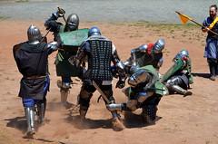 Another One Bites the Dust (seefit) Tags: arena armour weapons ballarat kryalcastle medievalcombat teamkraken