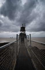 Portishead Lighthouse (nigdawphotography) Tags: sea sky cloud lighthouse architecture warning boat rocks portishead somerset shipping navigate