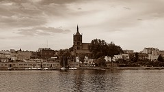 Chema (JoannaRB2009) Tags: old lake building tower church architecture landscape town view poland polska historical teutonic piast chema