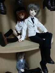 Doll Corner Shelf Display (almyki) Tags: white set ball asian louis doll dolls display 14 mini shelf fairy tiny yours bjd emilie ever bf abjd joint msd tf bluefairy