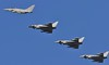 FOUR TYPHOONS  RAF (MANX NORTON) Tags: shadow 1 king hawk aircraft air hurricane jet fast islander falcon eurofighter lancaster atlas cobham spitfire vulcan r1 jaguar f3 c17 boeing 20 chinook tornado dakota hercules typhoon raf nato c130 sentinel sentry lossiemouth tucano a400 b200 qinetiq sqn alphajet gr4 bbmf coningsby dhfs e3a 3sq qra 11sqn 2sqn hs146 29sq 32sq 6sq 41sq