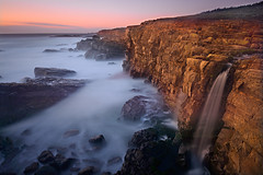 201 Falls Odyssey (David Shield Photography) Tags: ocean california longexposure light sunset seascape color landscape waterfall twilight nikon waves explore sonomacoast explored rockycliffs phillipsgulch