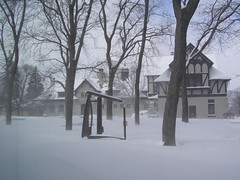 Carriage Houses (Melinda Stuart) Tags: school sculpture ny museum architecture snowstorm historical february grounds utica 2007 pratt carriagehouses munsonwilliamsproctor