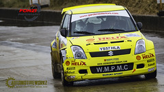 Suzuki Swift (Fonzi Photography) Tags: car sport yellow rally shell stages prom swift helix suzuki blackpool fleetwood clubman wyre rallying btrda jwrc
