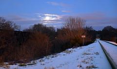 DSC_8626 (FirehawkNS) Tags: bridge snow river nc traintracks tracks northcarolina fullmoon moonrise snowday trainbridge moonshine movingclouds mountholly moonandclouds catawbariver gastoncounty winterinnc