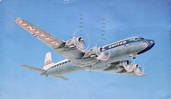 DC-7 Mainliner, United Air Lines (SwellMap) Tags: architecture plane vintage advertising design pc airport 60s fifties aviation postcard jet suburbia style kitsch retro nostalgia chrome americana 50s roadside googie populuxe sixties babyboomer consumer coldwar midcentury spaceage jetset jetage atomicage