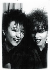 punk friends 79/80 (huddsfilm1) Tags: old friends fashion rock sex youth hair photo punk teeth goth picture style clash 80s 70s spike spikey 1977 pistols mohican subculture teenages