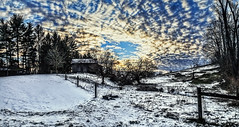 IMG_6967-68Ptzl1scTBbLGME (ultravivid imaging) Tags: snow clouds barn rural canon fence colorful cloudy farm scenic vivid fields imaging ultra sunsetclouds oldbarn ultravivid canon5dmk2 ultravividimaging