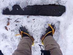 Practice of crampon walking (mega_midget_racer) Tags: mountain nature trekking outdoor
