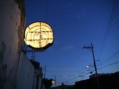 Dusk in Oaxaca (-jamesstave-) Tags: street light luz electric night dark mexico noche calle twilight dusk illuminated wires oaxaca crepsculo oscuridad oscuro iluminado elctrico bombillas alambres anochecida iphone5s