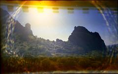 Olympus Trip 500, Kodak Max 400 (K e v i n) Tags: arizona sun southwest film nature rock analog 35mm landscape outside desert az scan kodakmax400 sonorandesert superstitionmountains lostdutchmanstatepark olympustrip500 epsonv500 treasurelooptrail 021715 february172015
