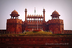 Red Fort (sanyagupta09) Tags: new city morning travel india monument beautiful architecture photography niceshot arch view delhi sony exploring arches dslr monuments photooftheday picoftheday bestshot morningview capturing travelphotography sonyalpha sonydslr travelphotographer morningclick