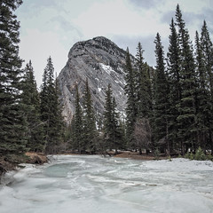 Banff NP - Bow Falls to Hoodoos Trail (GeoKs) Tags: winter ice banff bowriver mountrundle banffnationalpark