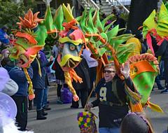 A Wave to the Crowd (BKHagar *Kim*) Tags: carnival people colorful neworleans dragons parade celebration nola mardigras walkingkrewe bkhagar kreweoftucksparade dragonsofneworleans