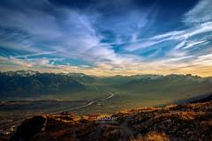 PANORAMA RHEINTAL, SWITZERLAND (VoNDutch6188) Tags: mountain color nature landscape switzerland view swiss natur berge explore alpine valley aussicht rheintal fluss rhine stgallen landschaft rhein tal kasten farben alpstein hoher