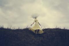 daydreamer (elle.hanley) Tags: portrait sky yellow clouds self dress dream daydream headintheclouds ellehanleycom