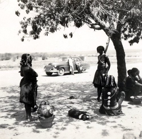 "6 ""Trip through South and Central Angola"", Muhuila women, with cut off cone shells"