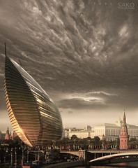 Moscow in the heart of Red Square (Sako Tchilingirian) Tags: lighting plaza new red sky white paris building tower art texture tourism glass sport fog arquitetura stone architecture modern facade photoshop project square concrete hotel design high construction arquitectura view russia outdoor moscow contemporary surreal panoramic structure architectural architect planning calatrava architektur walls projects concept rise process urbanism  architettura kremlin rendering arkitektur efficiency zaha hadid  sako 2016    sarkis     tchilingirian