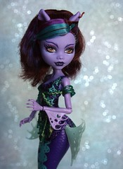 Nerissa (Emily-Noiret) Tags: monster high wolf doll great mermaid reef mattel clawdeen scarrier