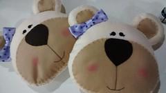 almofada de ursinha (feito a mao, feito a feltro) Tags: felt feltro almofada bero ursa urso lils