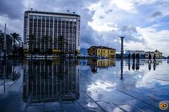 izmir pasaport yansmalar (38) (SONER DKER) Tags: trip travel cloud reflection rain arquitetura turkey square outdoor trkiye cumhuriyet izmir bulut pasaport yansma meydan turkei seyahat yamur meydan saariysqualitypictures mygearandme
