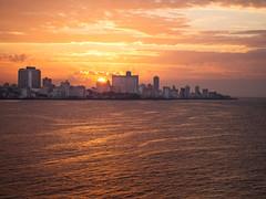 sunset over (alessandro bonetto) Tags: trip travel sunset holiday seascape colors landscape tramonto havana cuba malecon mojito habana hemingway daiquiri cohiba habanavieja