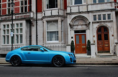 Cerulean Supersports (D.N. Photography) Tags: auto uk england london cars car canon square eos automobile united continental kingdom automotive knightsbridge vehicles exotic transportation 7d vehicle kensington supercar automobiles bentley exotics supercars cadogan supersports