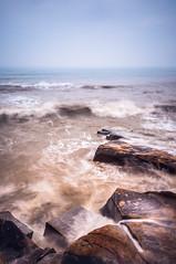 Wind & Wave (Picocoon) Tags: longexposure seascape rock landscape wind wave reef turbid