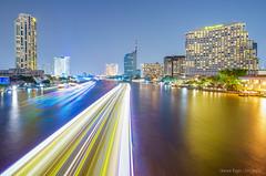 Chao Phraya @ Night (sherwinreyesfotografia) Tags: landscape thailand asia southeastasia cityscape nightscape bangkok sony citylights krungthep benro thailandtourism fe1635mm
