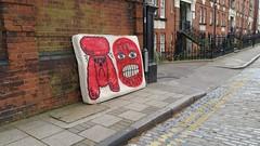 Dumped graffiti matteress in Stepney Green London E1 (Carol B London) Tags: graffiti rubbish waste e1 dumped londone1 towerhamlets stepneygreen lbth matteress