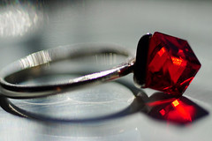 can diamonds be red? or he lied ;-) (margycrane) Tags: red macro ring redring macromondays macrounlimited