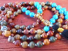 Mala 046 (innerjewelz@rogers.com) Tags: handmade traditional jewelry jewellery meditation custom mala 108 mantra intention knotted japamala innerjewelz