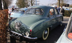 Renault Frgate 1955 (XBXG) Tags: auto old france classic car vintage french automobile champagne voiture des renault salon 51 frankrijk reims belles ancienne marne ardenne franaise fregate frgate dpoque renaultfrgate 29me champenoises dx680tk