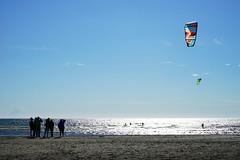 Kitesurfing (patrick.tafani) Tags: beach water sport sweden kitesurfing sverige plage varberg kitesurfer sude kitsurfin