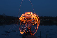 More Lines (nibrjosa) Tags: wool night fire long exposure steel spinning
