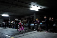 The Throw (lukemarkof) Tags: leica city light shadow black art classic race dark fun cycling exposure play view bikes style australia melbourne funky special exotic carpark depth interest built challenging leicaq securecpc carparkrace