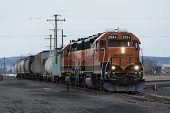 BNSF 2984 (dan mackey) Tags: superior caboose bnsf eastend burlingtonnorthernsantafe superiorwisconsin shovingplatform bnsf2984 bn12605 oldtowntransfer bnsf2647