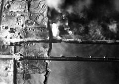 A US Navy dive bomber AD-3 bombs the Yalu River Railroad Bridge, Shinwooju during the Korean War, November 1950. [800x568] #HistoryPorn #history #retro http://ift.tt/22Z1rfS (Histolines) Tags: railroad bridge november history river during us ad3 war navy dive retro korean timeline bomber bombs 1950 yalu vinatage a historyporn histolines shinwooju 800x568 httpifttt22z1rfs
