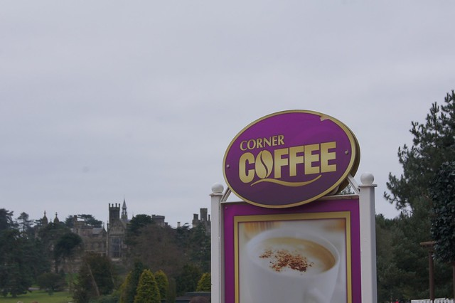 Corner Coffee Sign and The Towers