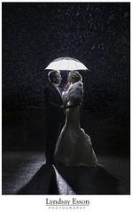 Rainy Day Wedding (Explored April 10th, 2016) (Lyndsay Esson) Tags: wedding rain umbrella nikon backlit bridal strobe brideandgroom nightportrait weddingcouple strobism sb900 rainywedding lyndsayessonphotography revelstokephotographer revelstokewedding