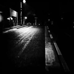 night rain (s_inagaki) Tags: street blackandwhite bw monochrome rain japan night tokyo bnw